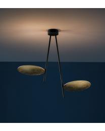 Catellani & Smith Lederam C180 Hanglamp Zwart / Goud