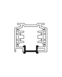 Eutrac afdekprofiel voor 3-fase Opbouwrail