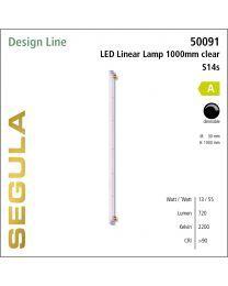 Segula LED linear lamp S14s 1m clear CRI>90 2200K S14s 720lm