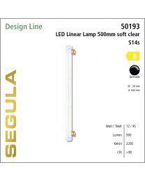 Segula LED Linear Lamp soft clear  CRI>90 2200K S14s 500 lm