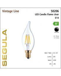 Segula LED Candle flame clear CRI>90 2200K E14 200 lm