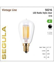 Segula LED Radio Style clear CRI>90 2200K E14 400 lm