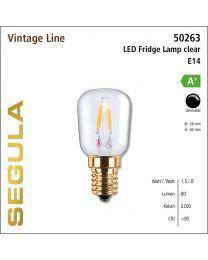 Segula LED Fridge Lamp clear CRI>90 2200K E14 100 lm
