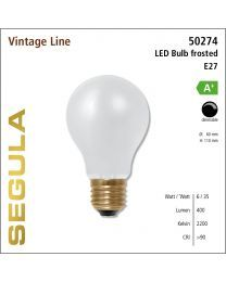 Segula LED Bulb frosted CRI>90 2200K E27 470 lm