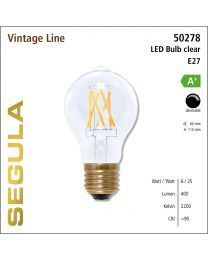 Segula LED Bulb clear CRI>90 2200K E27 470 lm