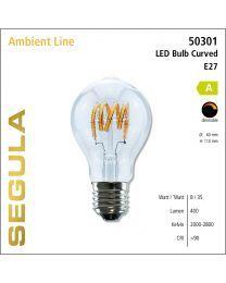 Segula LED CURVED A60 - 8W CRI>90 1900K-2700K E27 350 lm