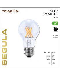 Segula LED Bulb clear CRI>90 2600K E27 720 lm