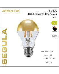 Segula LED Bulb Mirror Head golden CRI>90 2000-2900K E27 200 lm