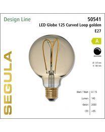 Segula LED Globe 125 Curved golden CRI>95 2200K E27 140 lm