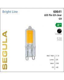 Segula LED G9 Pin Glass CRI>80 2700K G9 230 lm
