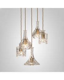 Lee Broom Decanterlight Chandelier 5 Piece Hanglamp