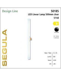 Segula LED Linear Lamp soft clear  CRI>90 2200K S14d 500 lm