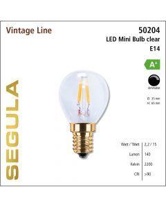 Segula LED Bulb clear CRI>90 2200K E14 160 lm