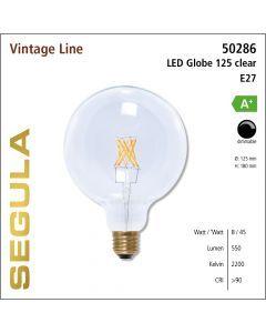 Segula LED Globe 125 clear CRI>90 2200K E27 620 lm
