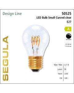 Segula LED Bulb small Curved clear CRI>90 2200K E27 90 lm